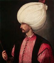 From Wikipedia.  Photo of Sultan Suleiman the Magnificent.