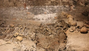 Photo of the Charnel House at St. Bride's.