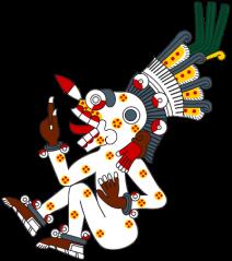 Picture via of Wikipedia of Mictlantecuhtli from the Codex Borgia