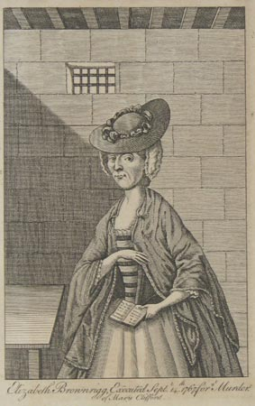 An engraving of Elizabeth Brownrigg