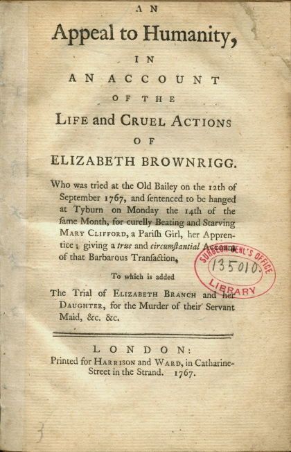Photo via the National Library of Medicine.  The pamphlet from Elizabeth's execution