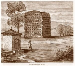 Drawing of the Cele Kula when it was built in the nineteenth century.