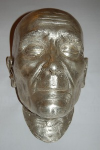 The silver mask created in 2013 using a digital reconstruction of Celestine's face