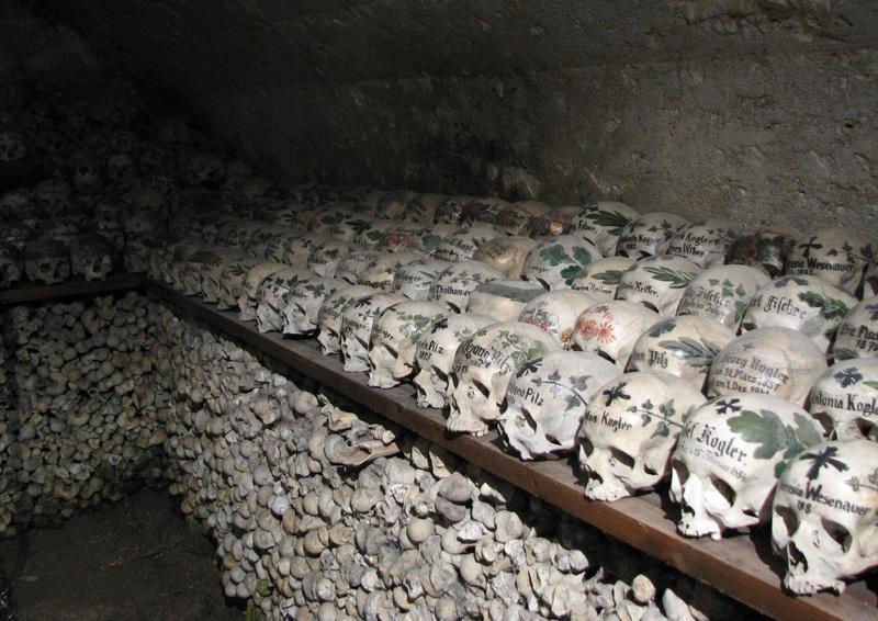 Marvelous The Painted Skulls Of The Bone House In Hallstatt, Austria U2013 Strange Remains
