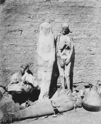 Man selling Egyptian mummies seller ca. 1875.  Photo via Wikipedia
