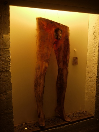 Necropants on display at Museum of Icelandic Sorcery and Witchcraft in Hólmavík, Iceland.  Photo credit: Bernard McManus