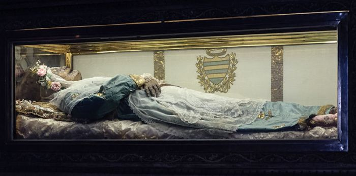 The incorruptible body of Saint Zita.  Photo credit: Wikipedia