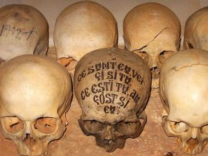 Sull in the ossuary of the Romanian Skete Prodromos on Mount Athos. Photo from Wikipedia