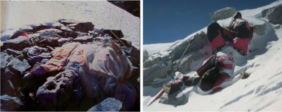 "Some of the bodies in the ""Rainbow Valley"" of Mt. Everest."