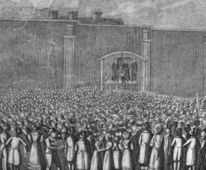 Hanging of William Corder on August 11th 1828.  Photo credit: Wikipedia