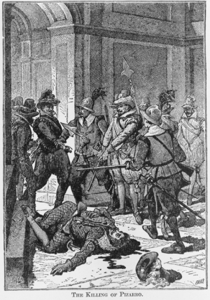 The Killing of Pizarro / Paris. c1891. Image Credit: The Library of Congress.