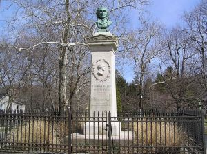 Thomas Paine's monument on North Avenue in New Rochelle, New York. Image Credit: Wikipedia