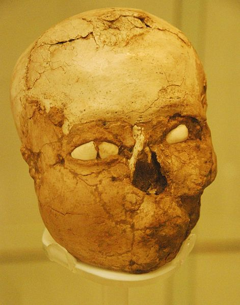 Jericho skull at the British Museum.  Image Credit: Wikipedia.