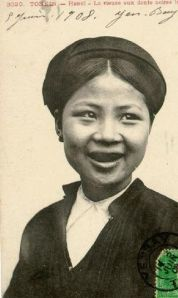 Tonkin woman with teeth stained black. Image credit: Wikipedia