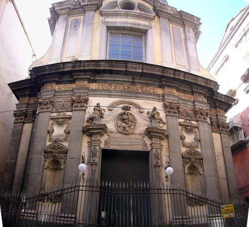 The facade of the church of Santa Maria delle Anime del Purgatorio ad Arco.  Image Credit: Wikipedia