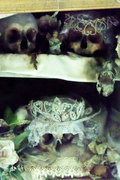 Skull of Lucia at the church of Santa Maria delle Anime del Purgatorio  Image Credit: Goggins World on Flickr