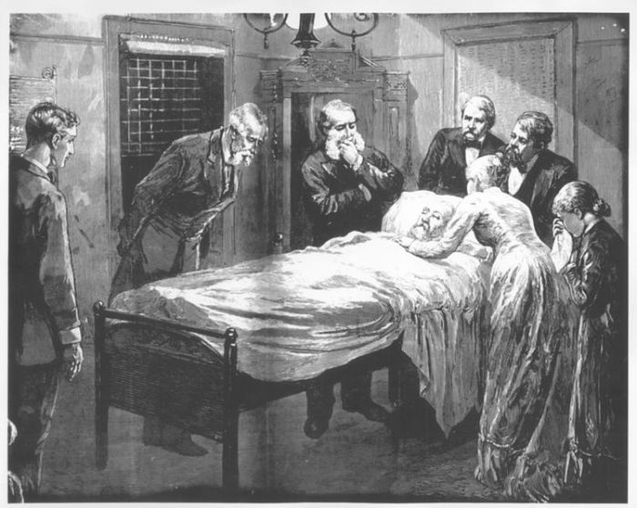 The Deathbed of President James A. Garfield.  Image Credit: Wikipedia