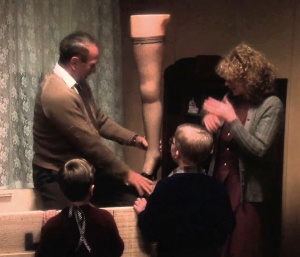 Image is a screen cap of A Christmas Story with footage from YouTube