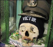 Captain Victor pictured at the Day of the Skulls in La Paz, Bolivia. Image Credit: BBC