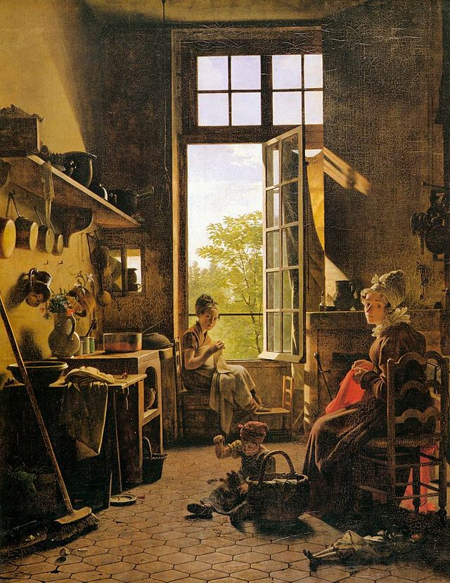 Interior Of A Kitchen By Martin Drölling, Louvre, 1815. Image Credit:  Wikipedia