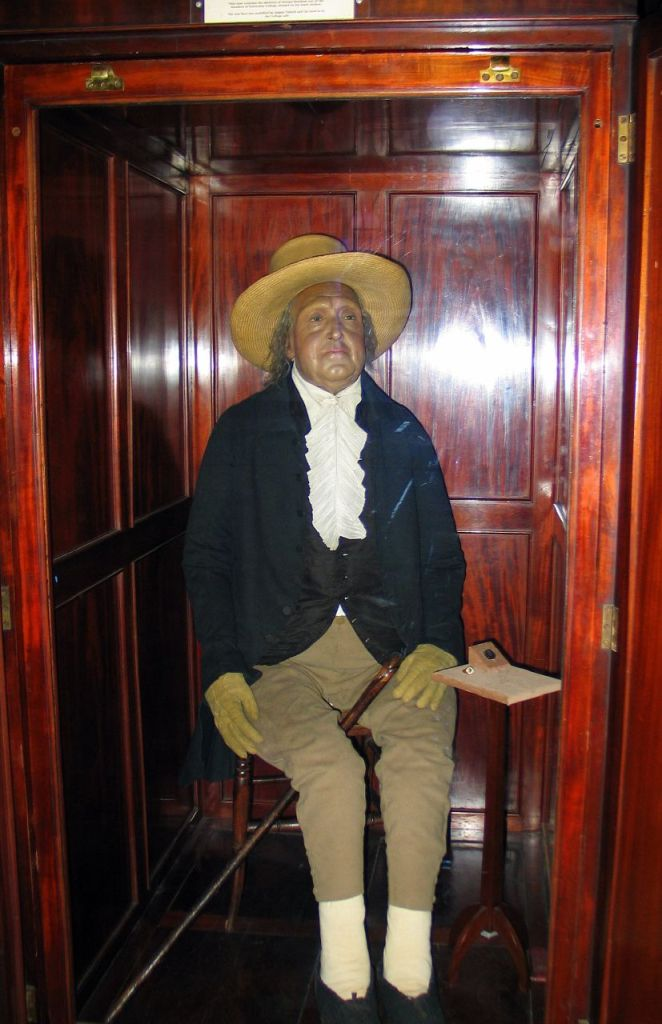 The Auto-Icon of Jeremy Bentham at the University College London.  Image Credit: Ann (Helen) Devereux via Flickr.