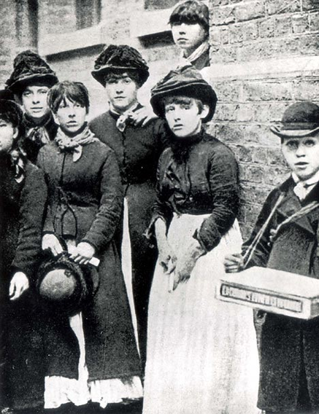 Photo of matchgirls participating in a strike against Bryant & May, London 1888.  Image credit: Wikipedia
