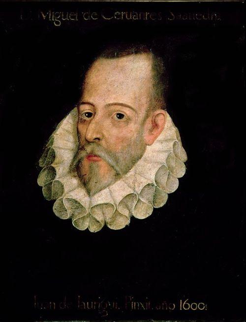 Portrait of Miguel de Cervantes possibly Juan de Jauregui y Aguilar.  Image credit: Wikipedia