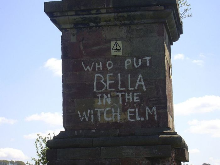 """Who put Bella down the Witch Elm on the Wychbury Obelisk, Worcestershire, England.  Image credit: Wikipedia"