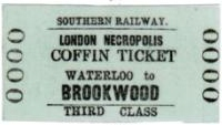 Third class coffin ticket, issued between April–September 1925 for Brookwood Cemetery.  Image from Wikipedia.
