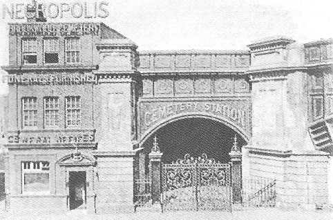 The original London Necropolis Railway Station that operated from 1854-1902. Image Credit: John Clark via Wikipedia.