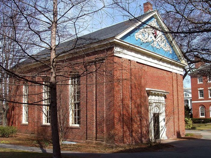 Holden Chapel, Harvard University, Cambridge, Massachusetts, USA.  Image Credit: Wikipedia