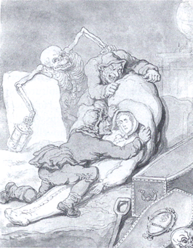 Thomas Rowlandson: Resurrection Men, 18th century.  Image via Wikipedia.