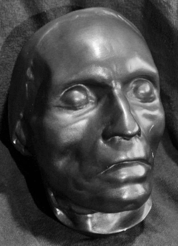 Deathmask of Beethoven by Josef Dannhauser.  Image from Wikipedia.