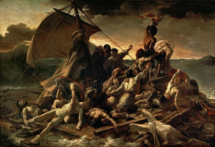 The Raft of the Medusa (1818-1819) by Theodore Gericault.  Image credit: Wikipedia