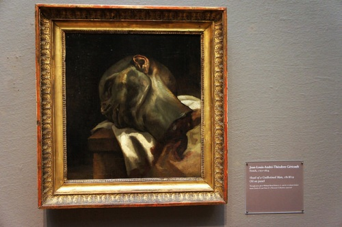 Head of a Guillotined Man by Théodore Géricault (1818).  Image credit: Peter Eimon on Flickr.