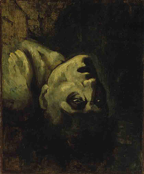 The Head of Drowned Man by Théodore Géricault (ca. 1819).  Image credit: Wikipedia