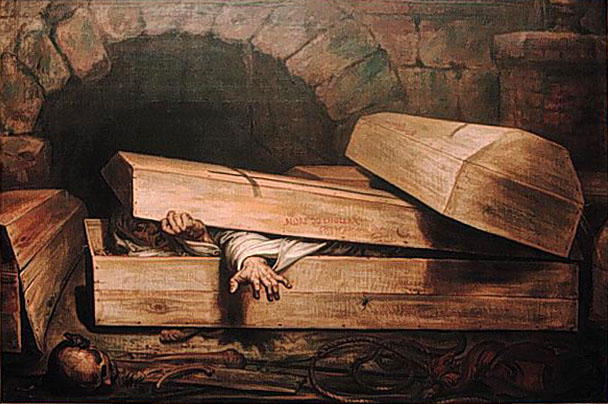 Antoine Wiertz painting entitled Premature Burial. Image credit: Wikipedia