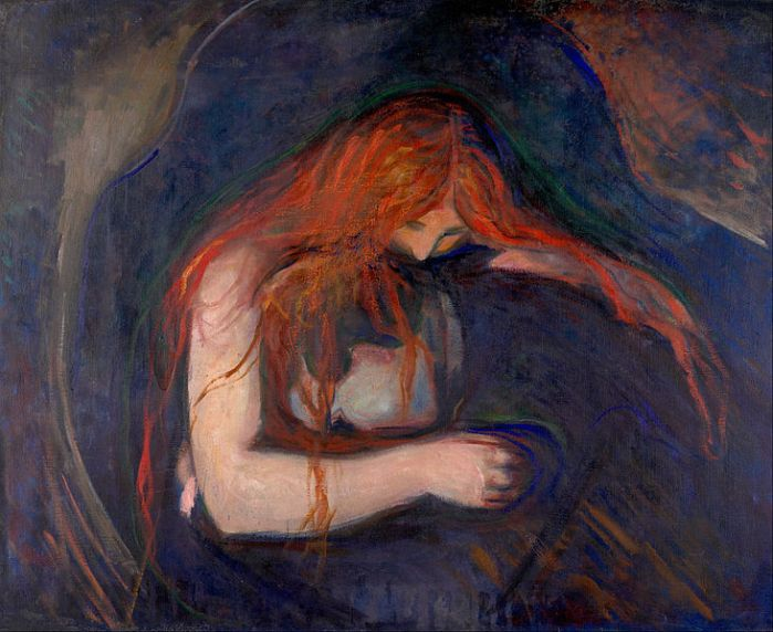 Vampyr by Edvard Munch (1895) Image credit: Wikipedia.