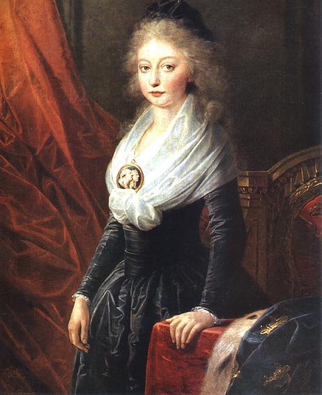Marie-Thérèse in Vienna in 1796 soon after her exile from France. Image from Wikipedia.