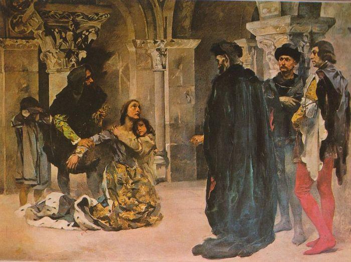 Murder of Inês de Castro. Paiting by Columbano Bordalo Pinheiro, ca. 1901/04. Image Credit: Wikipedia.