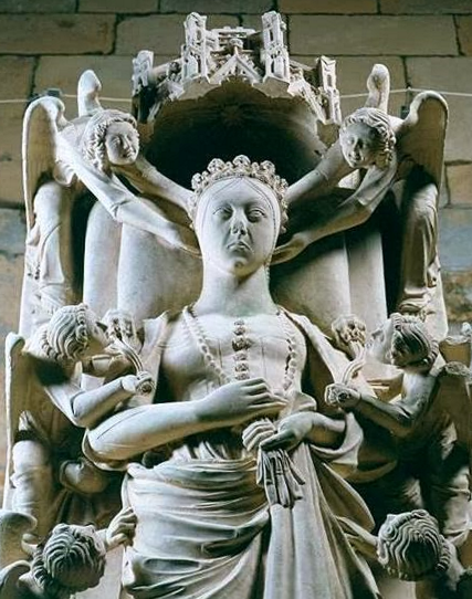 The effigy on the tomb of Inês de Castro at the Monastery of Alcobaça. Image credit: Wikipedia