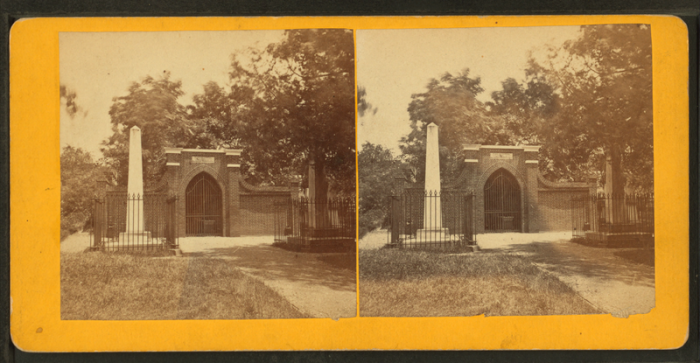 Tomb of George Washington ca. 1859.  Image credit: Wikipedia.